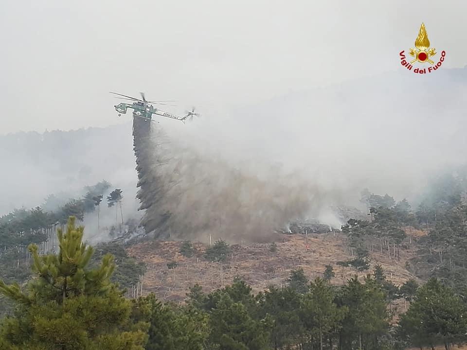 Incendio boschivo a Val della Torre (TO)