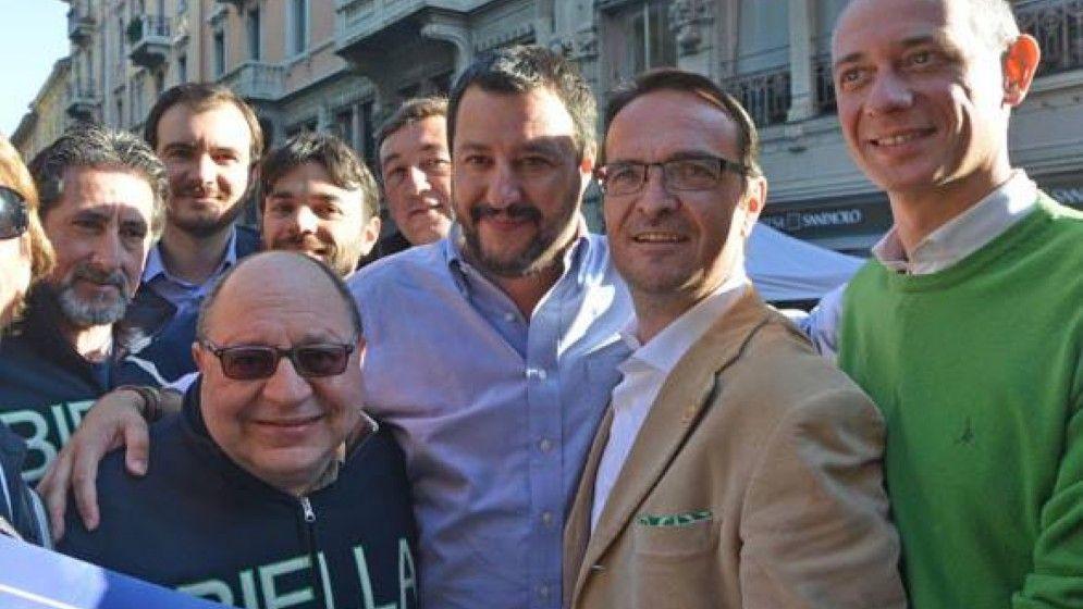 Candidati biellesi con Salvini, a Biella