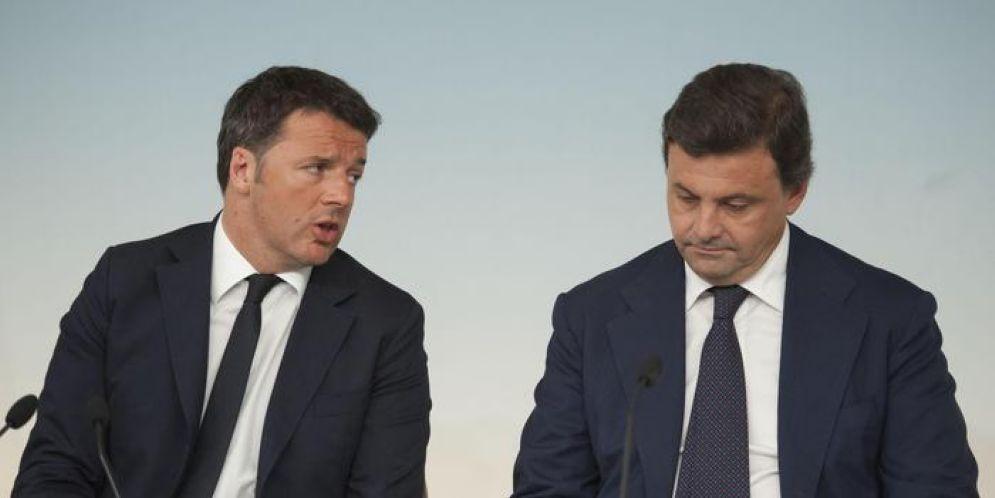 Matteo Renzi con il Sottosegretario Carlo Calenda