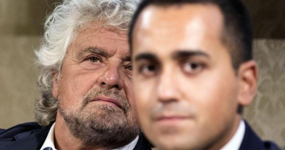 Beppe Grillo e Luigi Di Maio, candidato Premier del MoVimento 5 Stelle