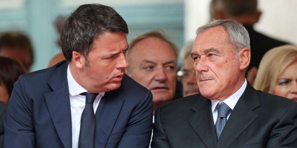 Matteo Renzi con il Presidente del Senato e leader di «Liberi e Uguali», Pietro Grasso