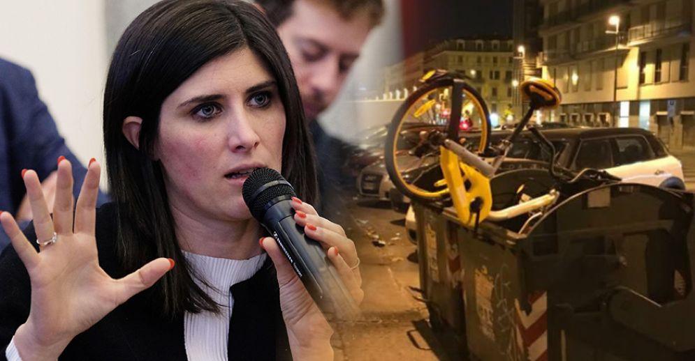 Atto di vandalismo ai danni delle biciclette del bike sharing free floating
