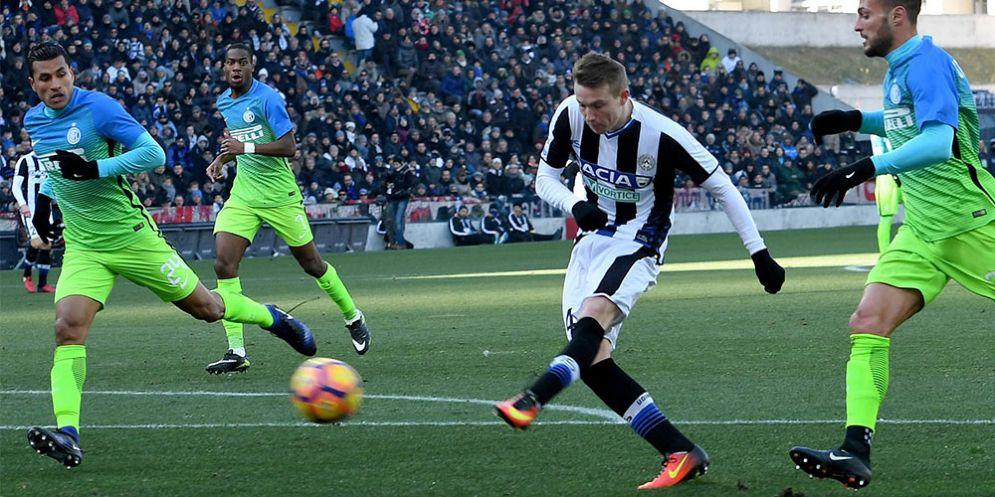 Il centrocampista dell'Udinese Jakub Jankto