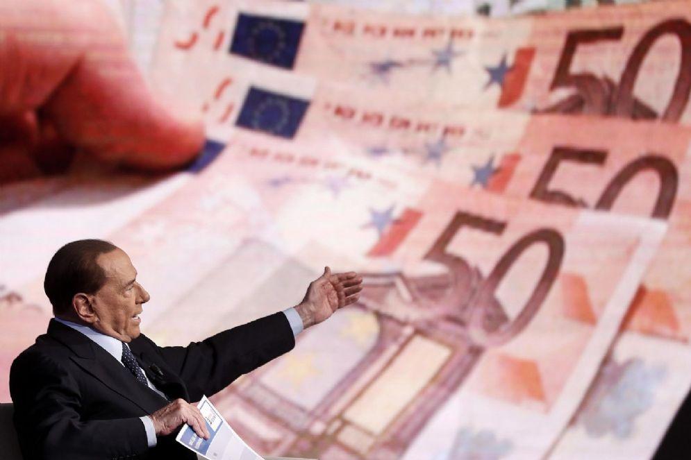 Il leader di Forza Italia Silvio Berlusconi a Porta a Porta