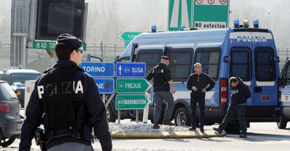 La polizia a Bardonecchia