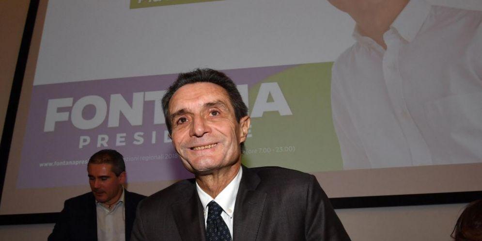 Il candidato alla presidenza lombarda del Centrodestra Attilio Fontana