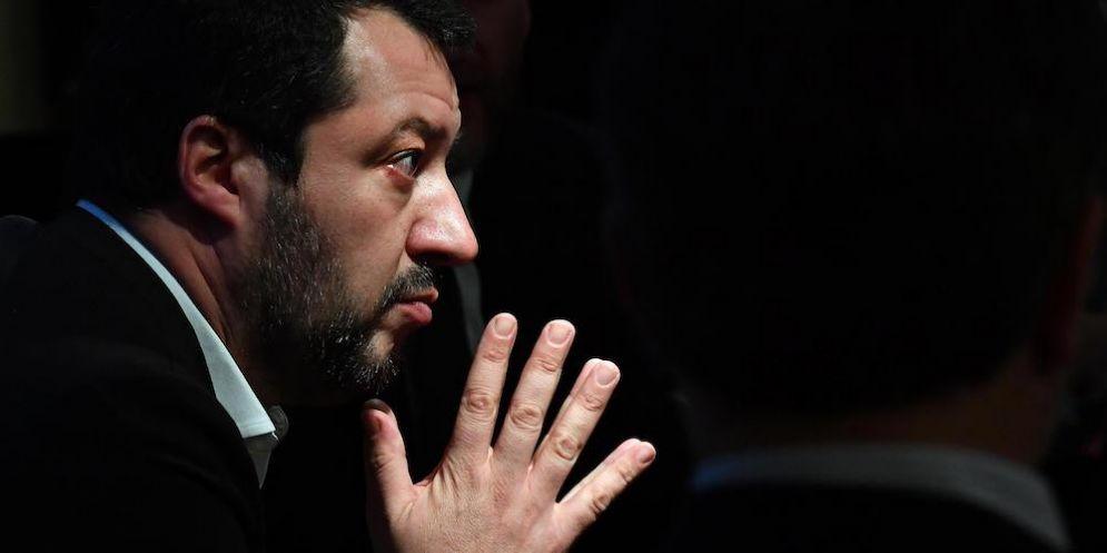 Il segretario della Lega Matteo Salvini.