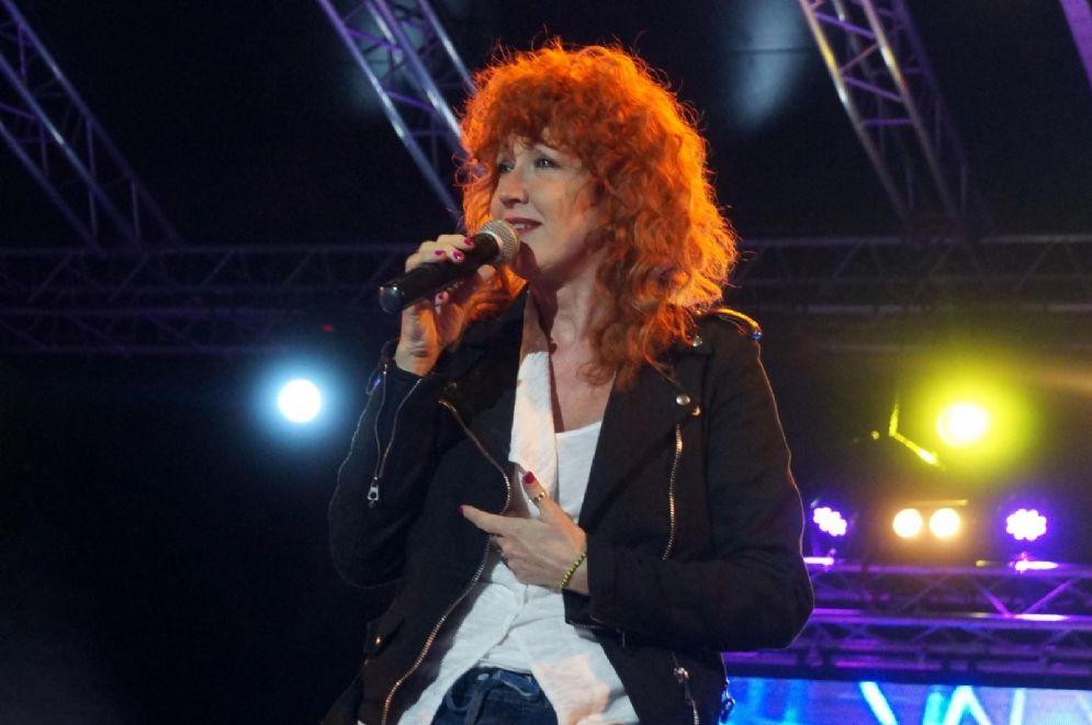Fiorella Mannoia durante il concertone del Primo Maggio, alternativo a quello di Roma, al Parco Archeologico delle Mura Greche di Taranto, 1 Maggio 2014