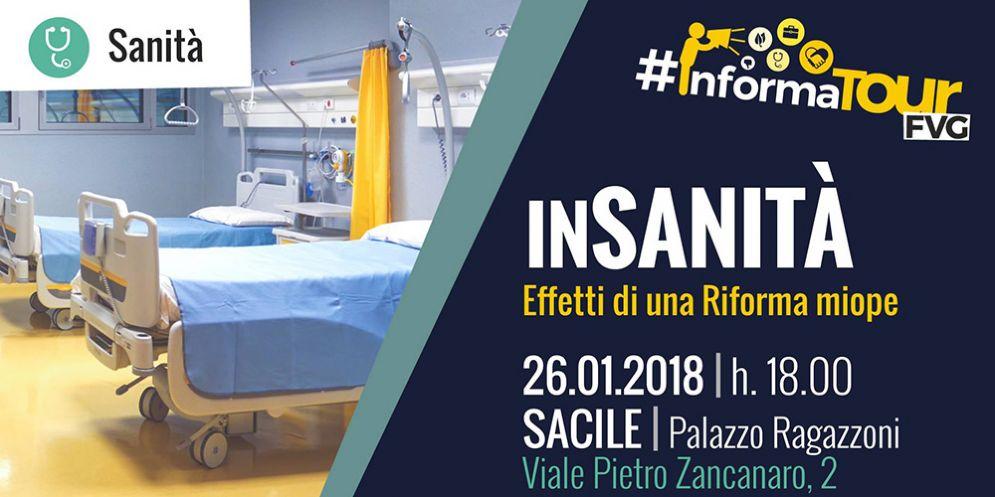 """""""Insanità, effetti di una riforma miope"""": a Sacile nuova tappa dell'InformaTourFvg"""