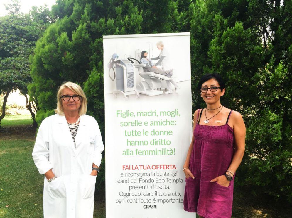 Adriana Paduos, direttore sanitario della Fondazione Tempia, insieme a Monica Terranova, 46 anni