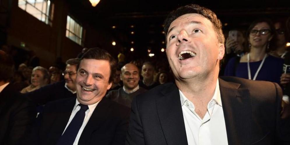 Il Ministro Carlo Calenda con il Segretario del PD, Matteo Renzi