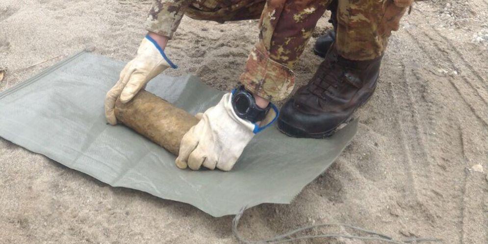 Granata d'artiglieria trovata a Cormons