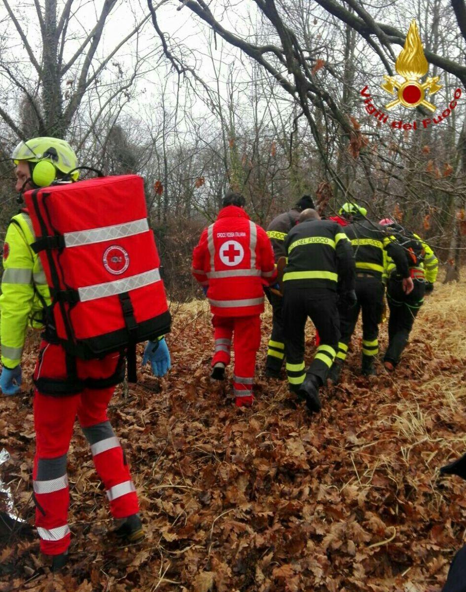 I soccorsi in Baraggia