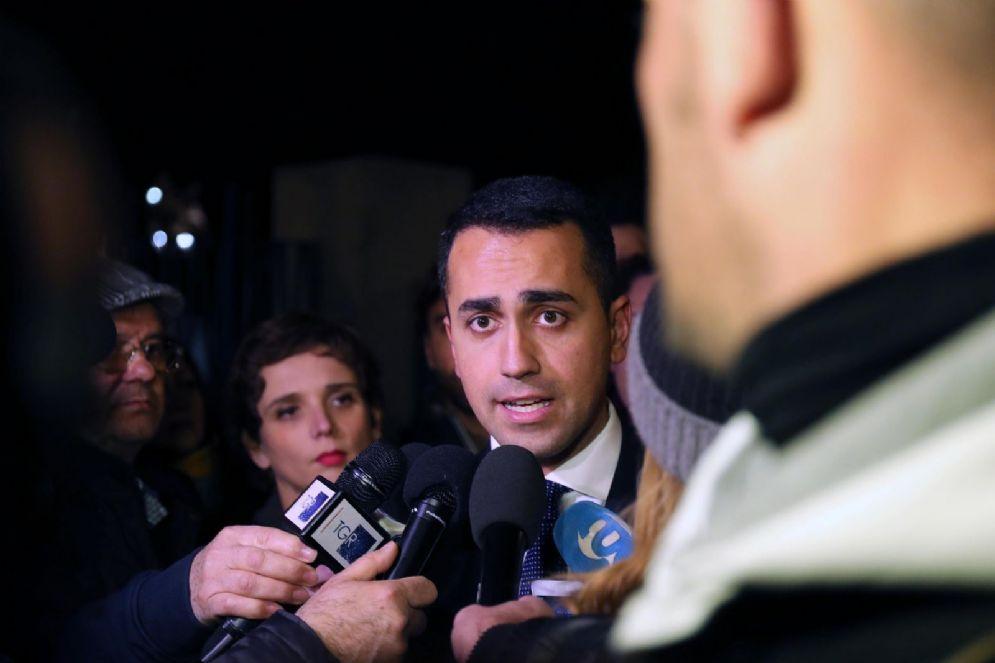Il candidato premier dell'M5S Luigi Di Maio a Palermo
