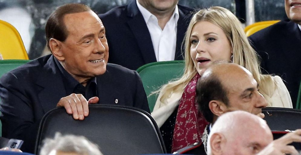 L'ex presidente del Milan Silvio Berlusconi con la figli Barbara