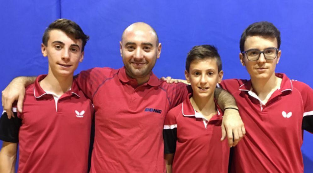 Biella Legno: Davide Gamba, Gabriele Curtolo, Francesco Gamba e David Dabbicco