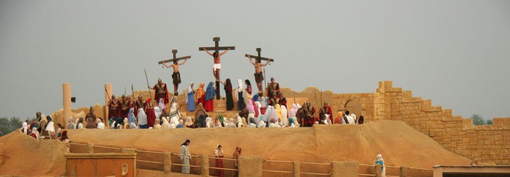 Un momento della sacra rappresentazione