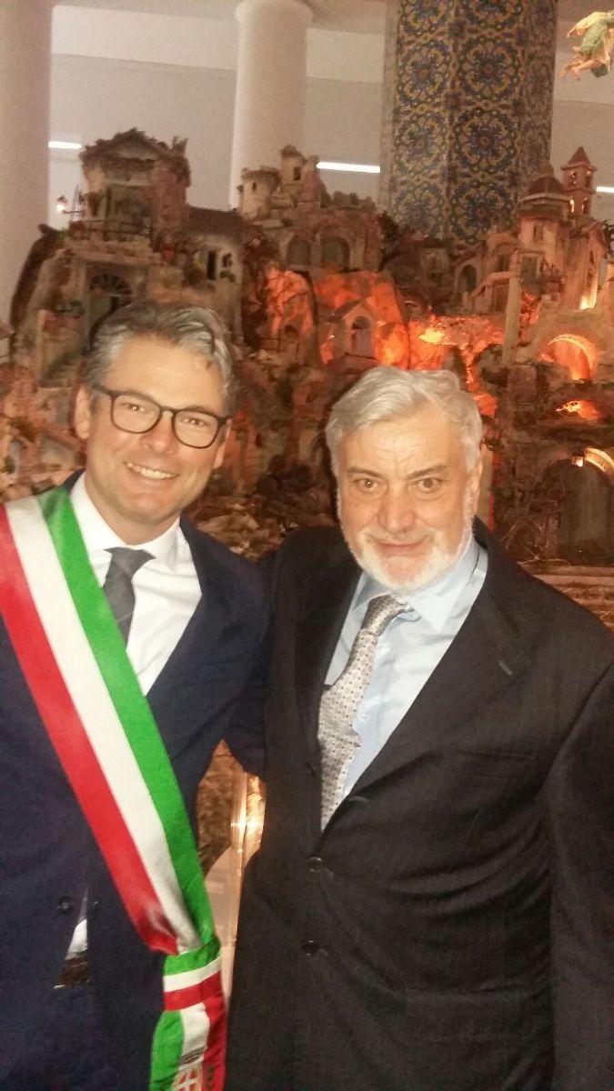 Il vice-sindaco Alberto Monticone e il vicepresidente dell'Associazione Teatro Popolare Carlo Pedrazzo