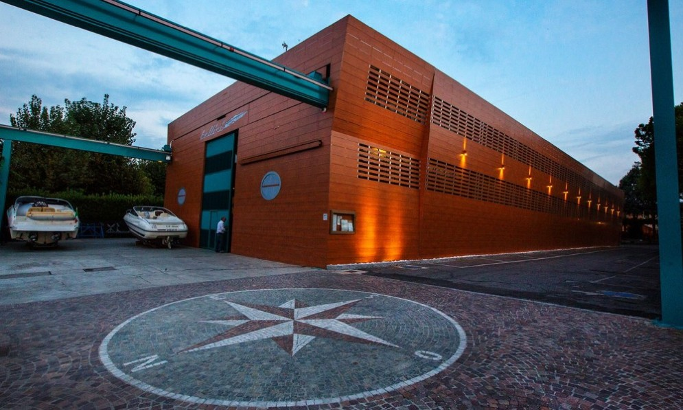 La sede dell'azienda Bellini Nautica