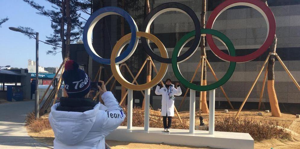 Il simbolo delle Olimpiadi a Pyeongchang.
