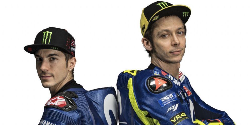 Maverick Vinales e Valentino Rossi, la coppia di piloti della Yamaha