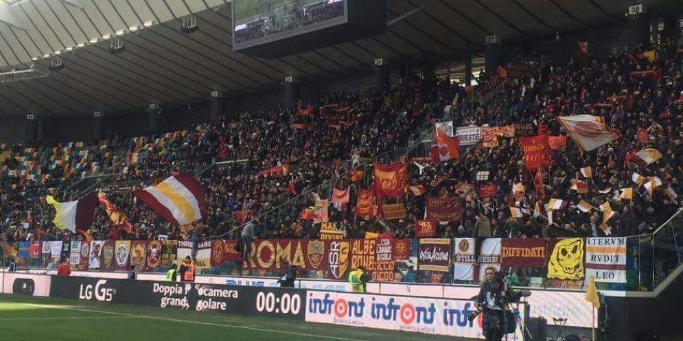 Udinese-Roma ad 'alto rischio': niente trasferta per i tifosi giallorossi