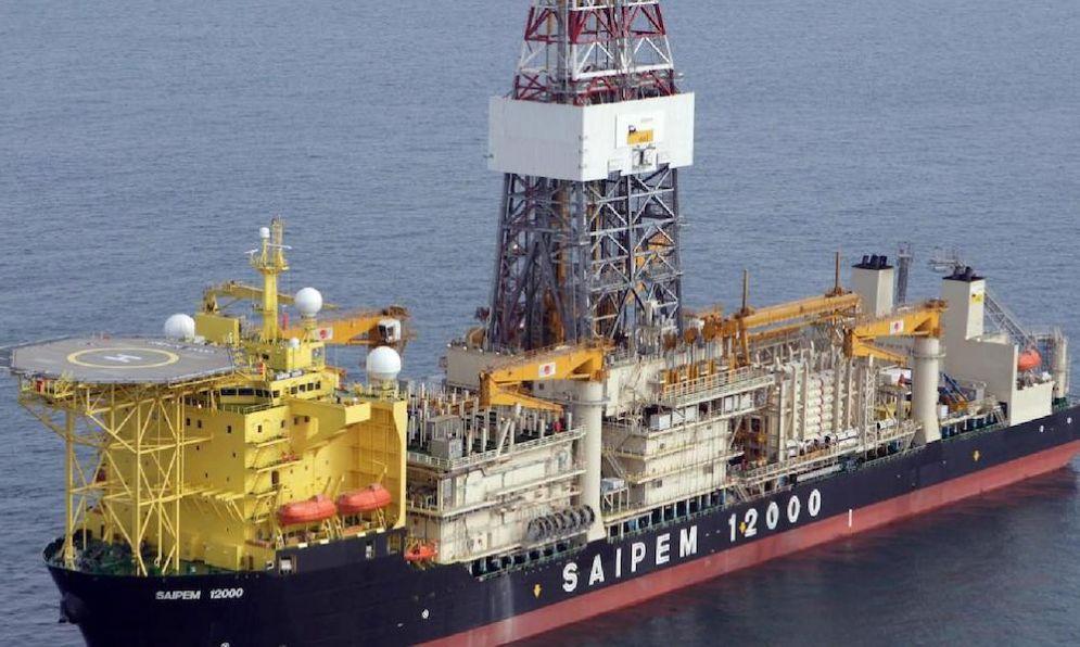 Un'immagine della nave Eni Saipem 12000.