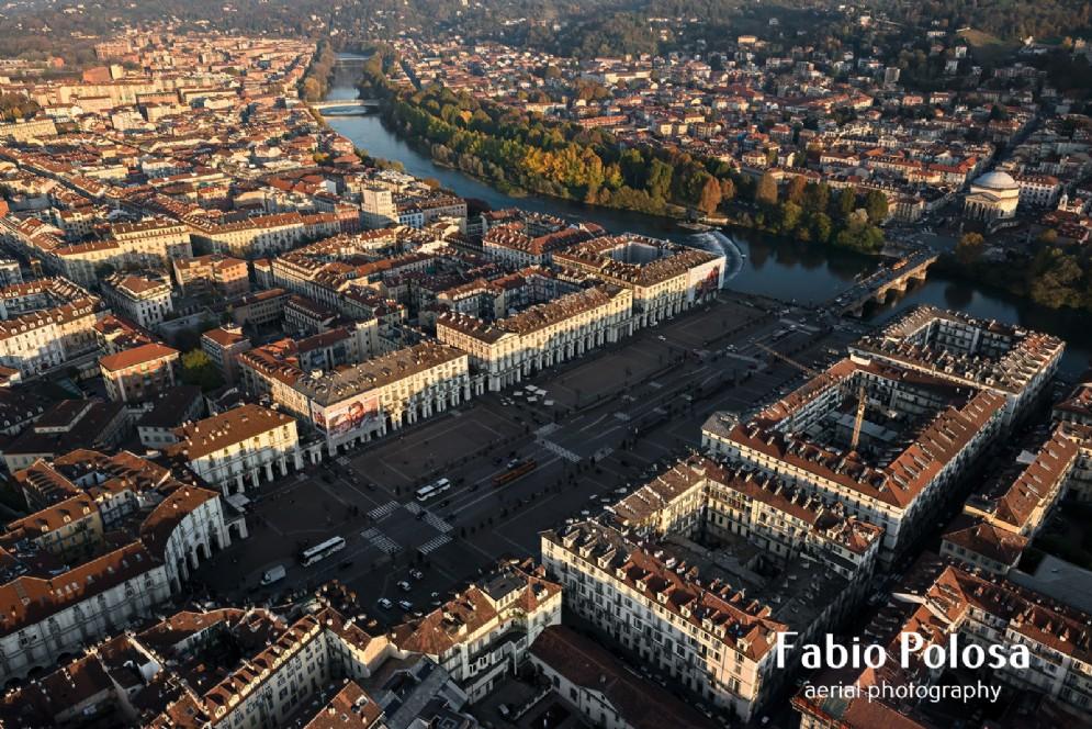 Piazza Vittorio, una delle piazze porticate più grandi d'Europa
