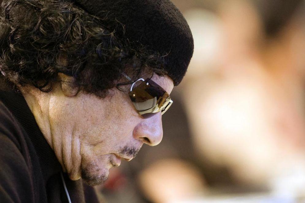 Muammar Gheddafi.
