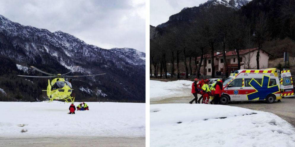 Scialpinista precipita in una foiba nell'area alpina del Pradut
