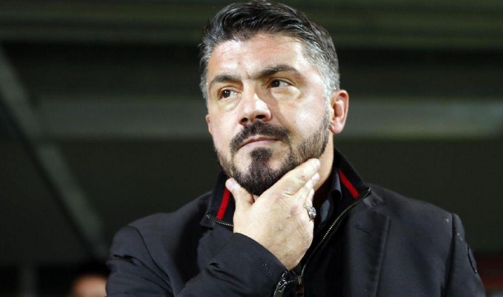 Il tecnico rossonero Gennaro Gattuso