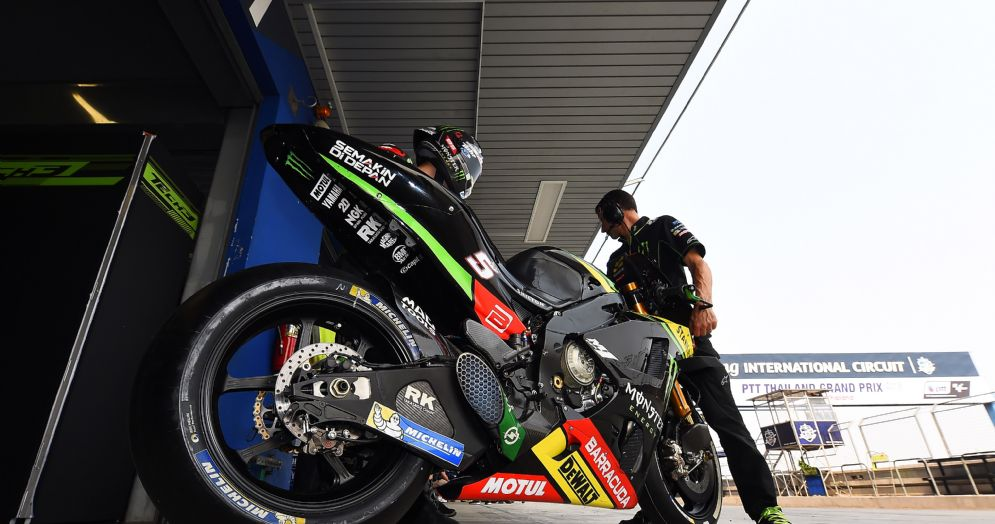 La Yamaha satellite di Johann Zarco entra nel box del team Tech3