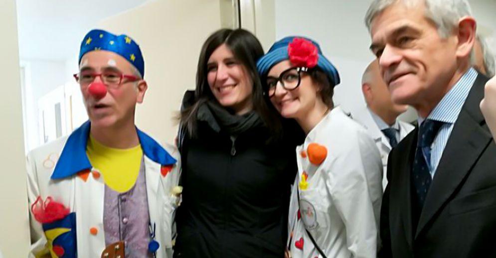 Chiara Appendino e Sergio Chiamparino all'inaugurazione del Percorso Cuore Pediatrico