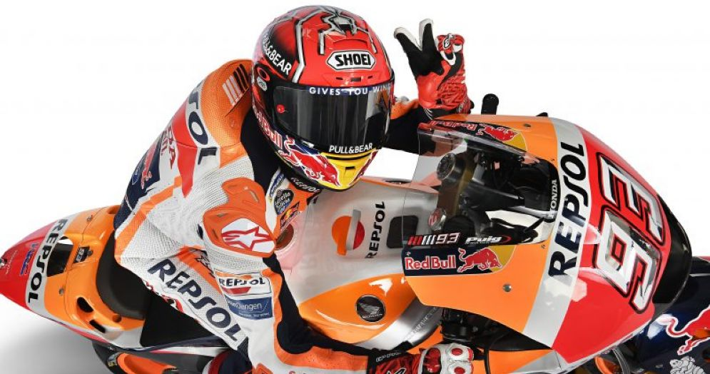 Marc Marquez in sella alla Honda