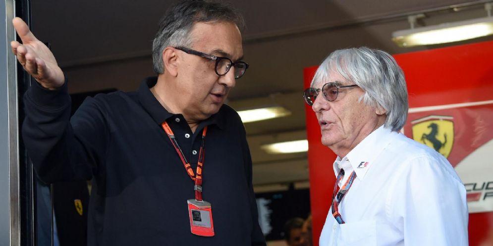 Sergio Marchionne con Bernie Ecclestone
