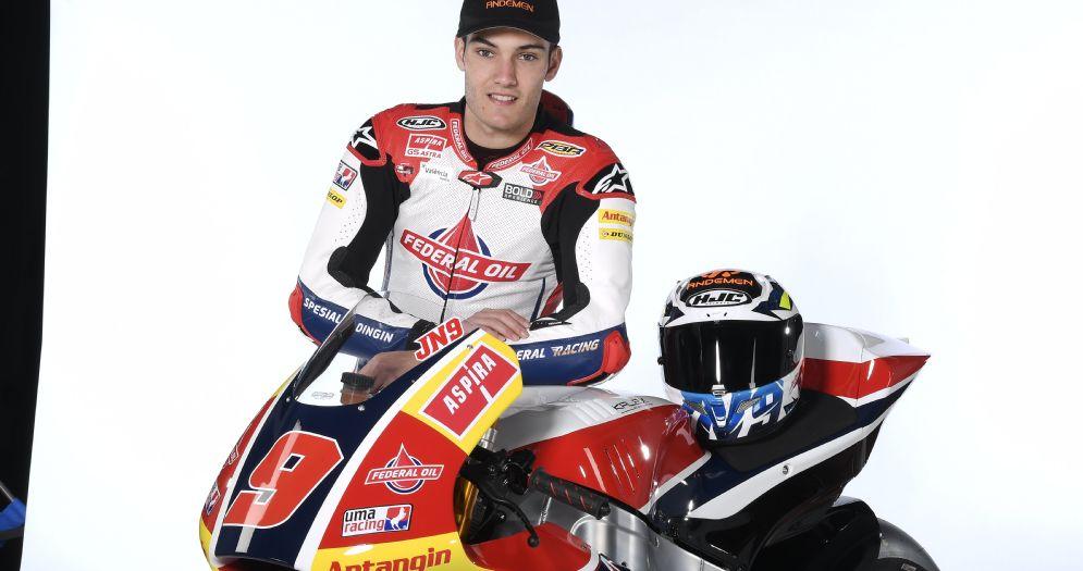 Jorge Navarro con la Kalex del team Gresini Moto2