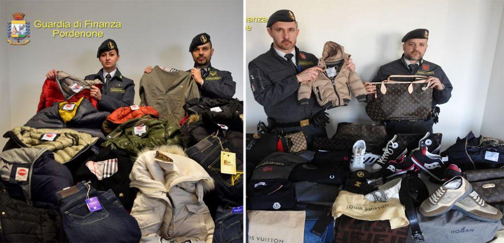 Fvg  la Guardia di Finanza sequestra 21 mila articoli di abbigliamento  contraffatti e 21.700 euro 87e6c9560478