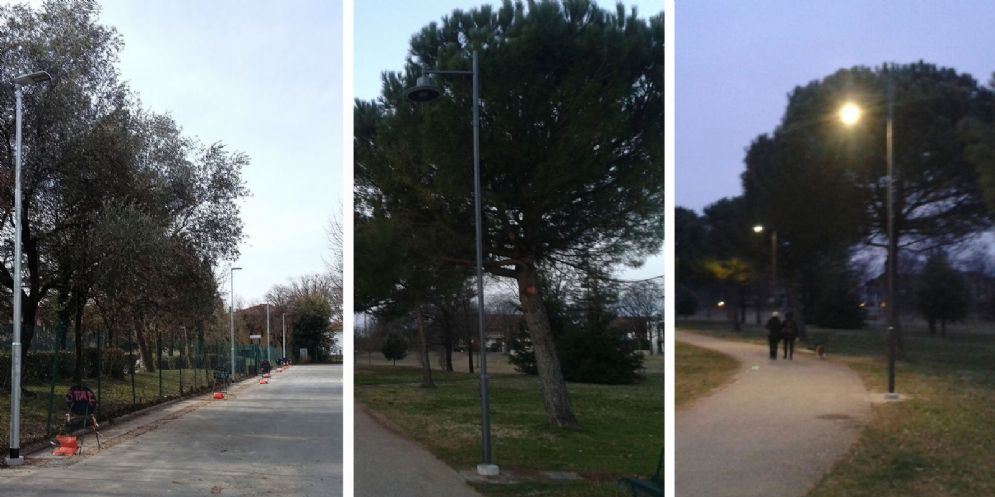Udine: migliora l'illuminazione al parco Moretti e in via Melegnano