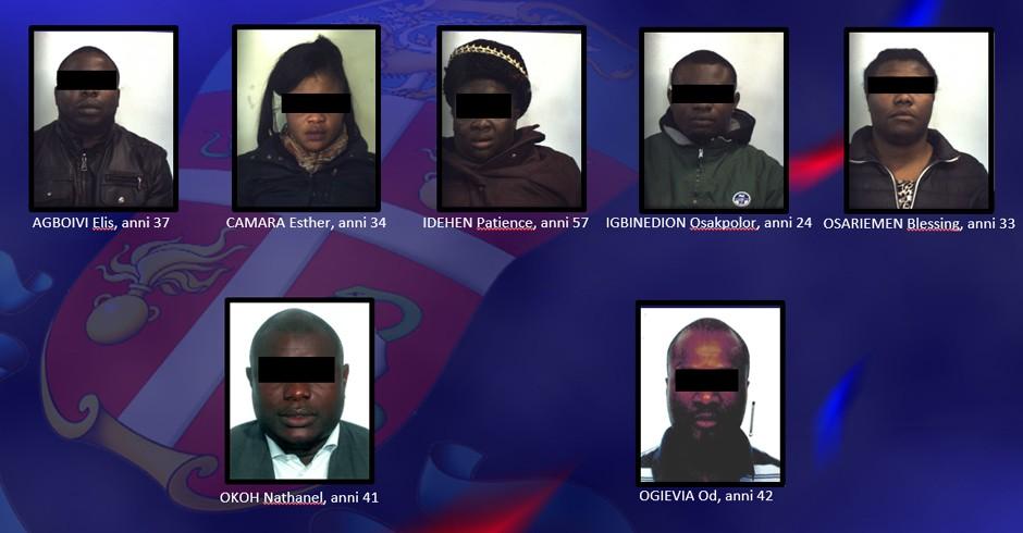Sette persone arrestate