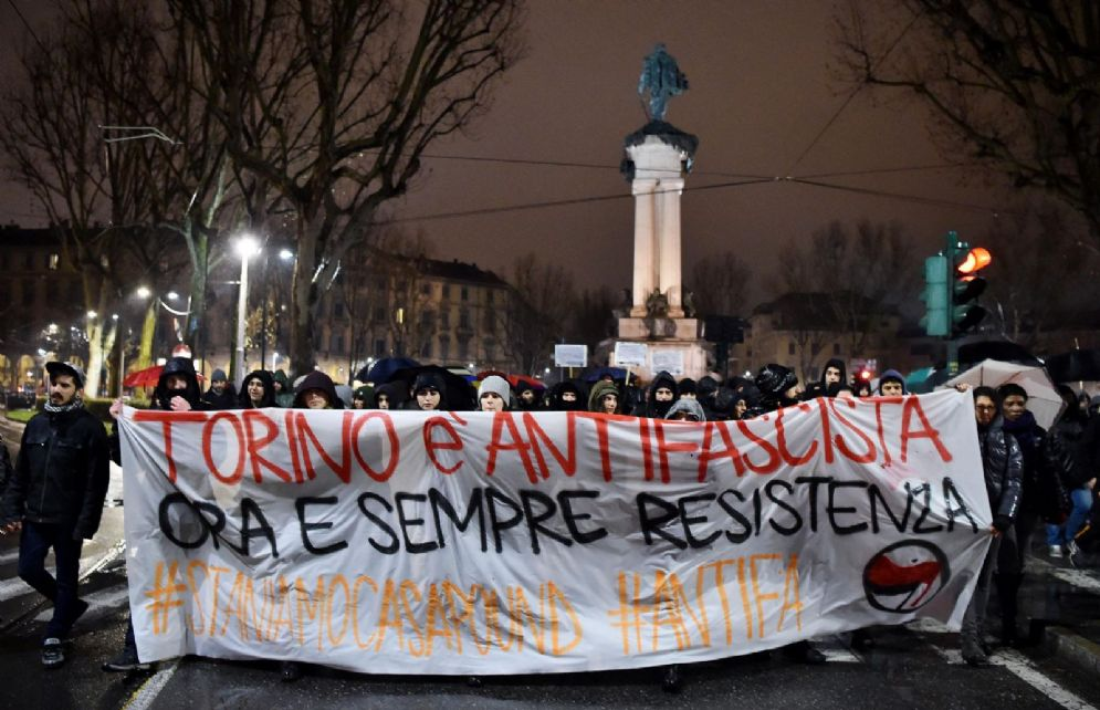 Nuova manifestazione antifascista a Torino