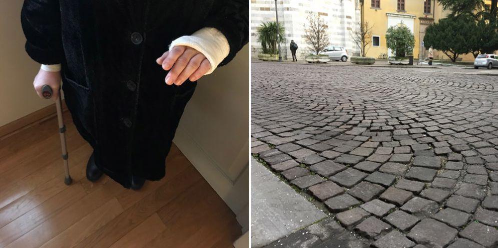 Udine: cade a causa del porfido sconnesso, 68enne cerca testimoni dell'incidente