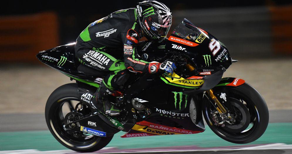 Johann Zarco in sella alla Yamaha satellite del team Tech3 nei test in Qatar