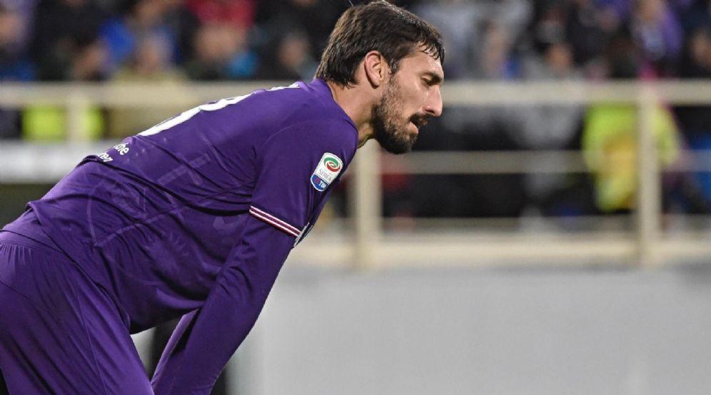 Il capitano della Fiorentina Davide Astori