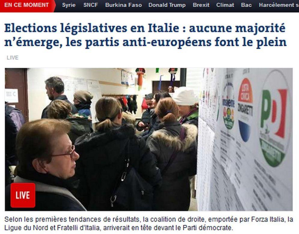 La prima pagina di Le Monde Online