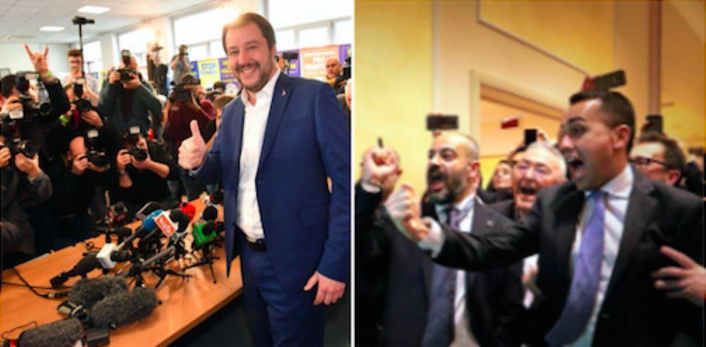 Il leader M5s Luigi Di Maio e quello della Lega Matteo Salvini
