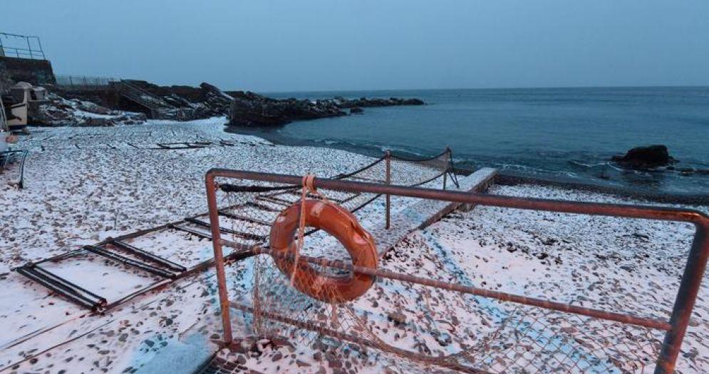 Il mare ligure questo inverno