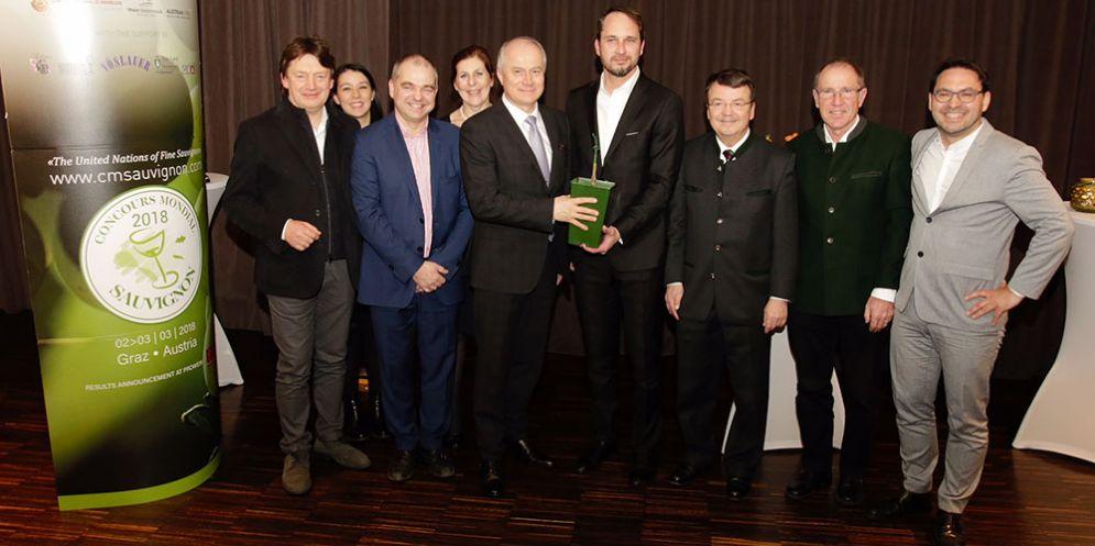 L'assessore regionale alle Risorse agricole Cristiano Shaurli alla 9. edizione del Concours mondial du Sauvignon in corso di svolgimento a Graz (Austria)