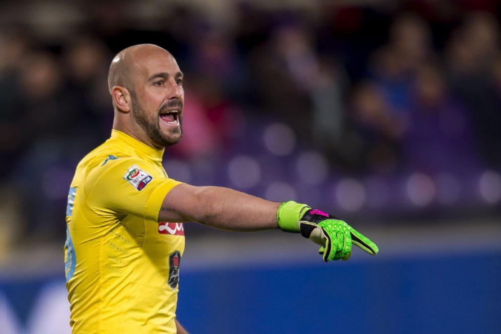 Pepe Reina, portiere spagnolo del Napoli che a luglio passerà al Milan