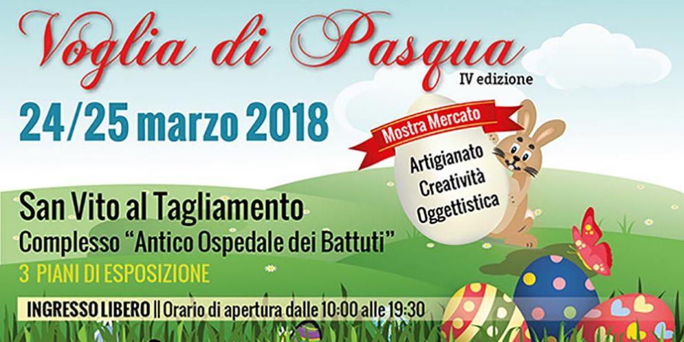 """Torna """"Voglia di Pasqua"""" a San Vito al Tagliamento, la mostra mercato con oltre 50 espositori"""