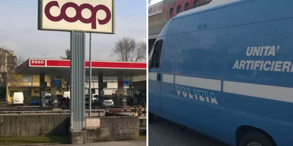 Gorizia: allarme bomba per un pacco abbandonato fuori da un supermercato